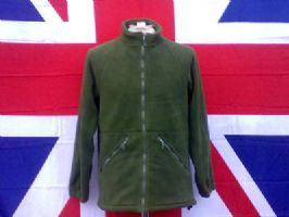 EX ARMY/MILITARY OLIVE GREEN FLEECE JACKET